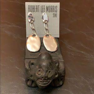 Robert Lee Morris Jewelry - Robert Lee Morris Silver Tone Pierced Earrings